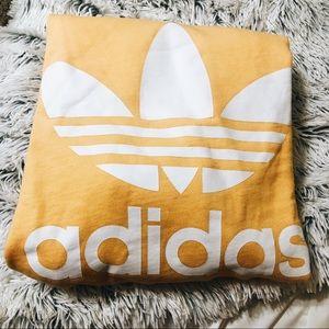 adidas Trefoil Logo Yellow Hoodie